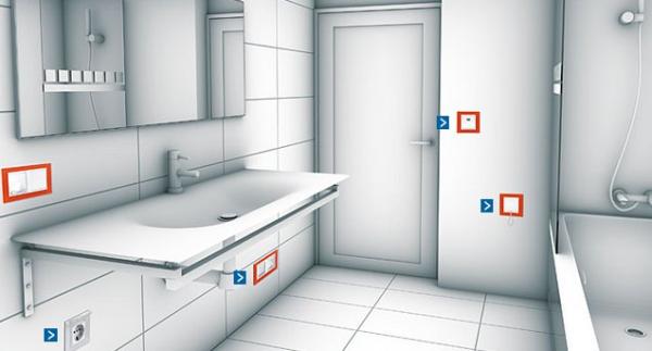 instalaciones electricas domiciliarias baño
