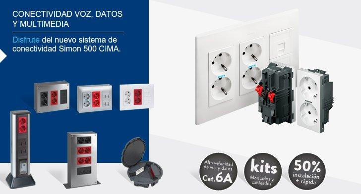 Complementos eléctricos para la instalación en una oficina
