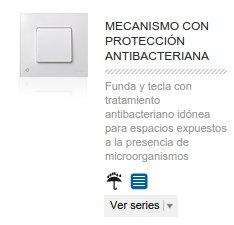 Mecanismo con protección antibacteriana