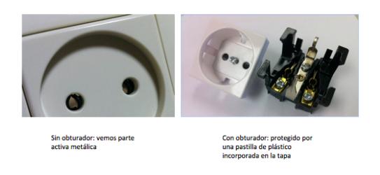 accidente eléctrico enchufe seguridad