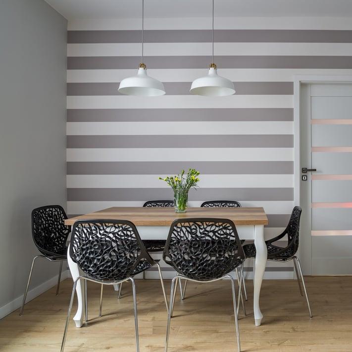 Paredes pintadas a rayas 4 consejos para acertar con ellas - Pared pintada a rayas verticales ...