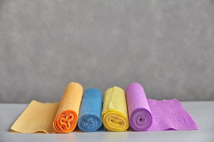 decoración con papel crepe