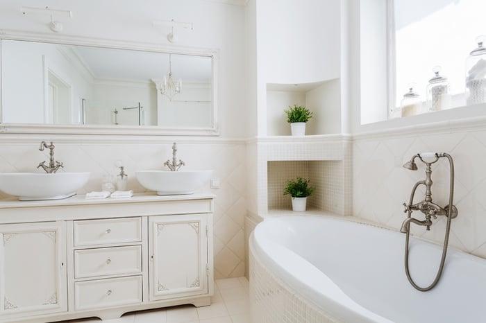 baños vintage, baños retro