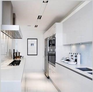 cocinas blancas, cocinas modernas blancas, cocinas blancas modernas