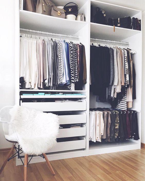 Consejos para ordenar vestidores pequeos y armarios