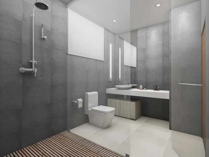 paredes grises, paredes pintadas de gris