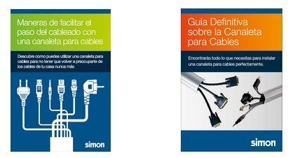 Guía canaleta de cables